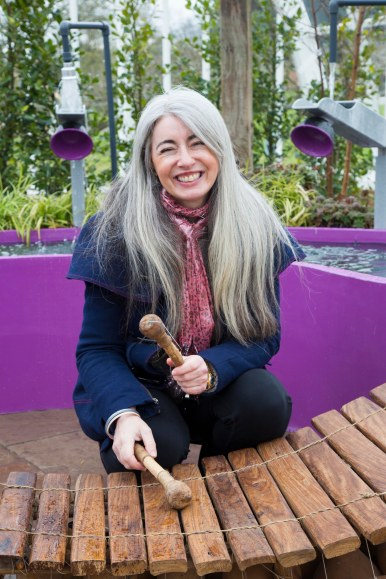 Dame Evelyn Glennie supports Papworth Trust Chelsea garden